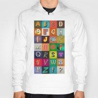 alphabet Hoodies featuring Alphabet by rob art | simple