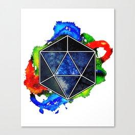 d20 Icosahedron of Imagination Canvas Print