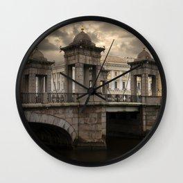 Postcards from Petersburg - Lomonosv Bridge Wall Clock