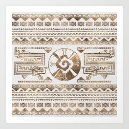 Hunab Ku Pastel gold Art Print