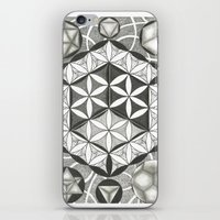 sacred geometry iPhone & iPod Skins featuring Sacred by Brandon Leung