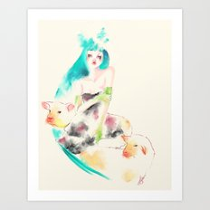 Sheeps Art Print