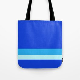 Solid Ultramarine w/ Two-Tone Light Blue Divider Lines Tote Bag