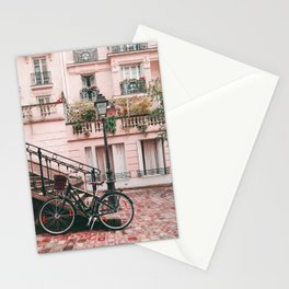 Bike in Paris Pink City Photography  Stationery Cards