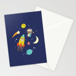 Space Critters Stationery Cards