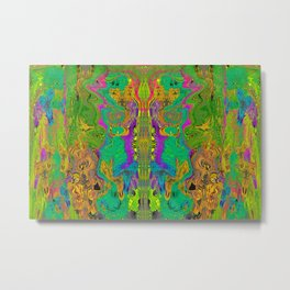 Twisted Bug Face (Light) (Psychedelic) Metal Print