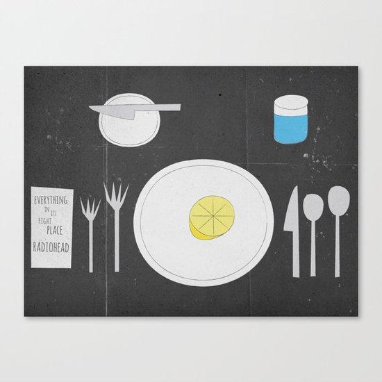 Everything Lemon - Analog Zine Canvas Print