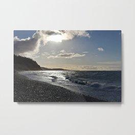 A Beach at Whidbey Island, Washington Metal Print
