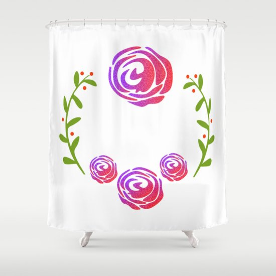 Floral Round Shower Curtain