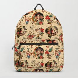 Makers Gonna Make Pattern Tea Stain Backpack