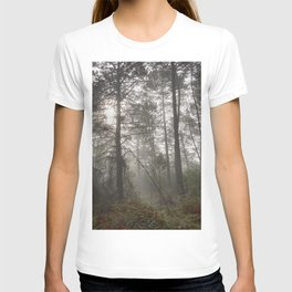 Calm morning... Into the foggy woods T-shirt
