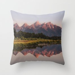 Morning in the Tetons Throw Pillow