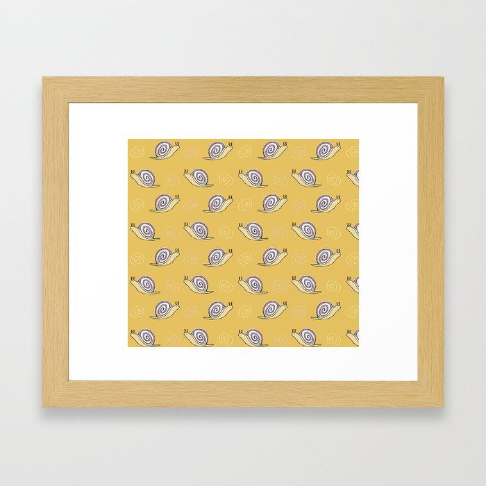 Snails & Swirls Pattern Framed Art Print