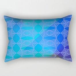 Pattern by spider web blue ... Rectangular Pillow