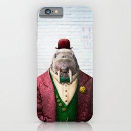 Portrait of Wendell Walrus iPhone Case