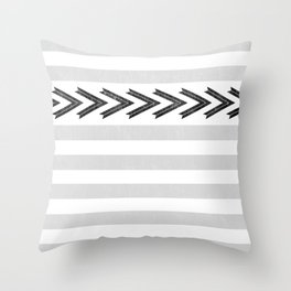ARROW STRIPE {GRAY} Throw Pillow