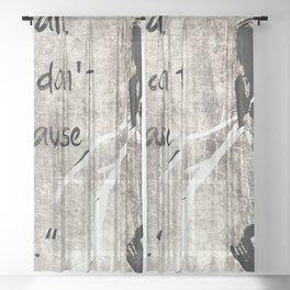 i am a wall Sheer Curtain