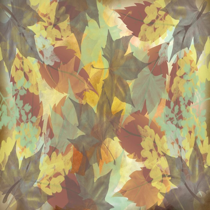 Autumn Leaves Abstract Comforters
