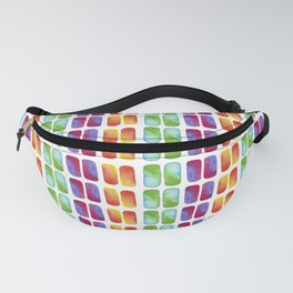 Color pops in Watercolor Fanny Pack