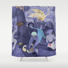 Gleaners and Dreamers Shower Curtain