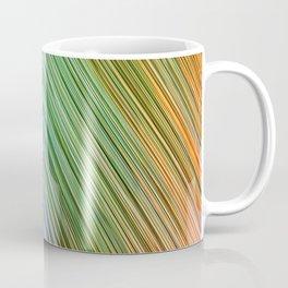 orange of rays light aesthetic lines abstract textile print Coffee Mug