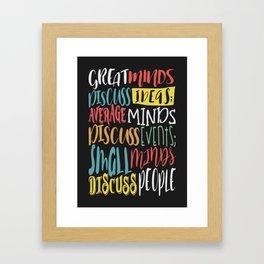 Great Minds Framed Art Print