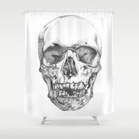 obey Shower Curtains featuring work & obey by Mark Alexander Gascoigne