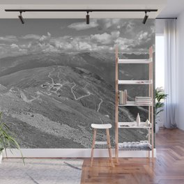 fisser yoke alps panorama serfaus fiss ladis tyrol austria europe black white Wall Mural