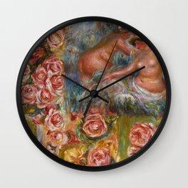 """Auguste Renoir """"Étude De Nus Et De Fleurs"""" Wall Clock"""