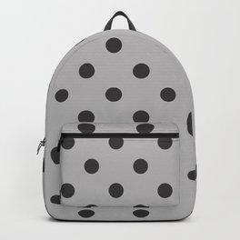 Extra Large Dark Grey on Light Grey Polka Dots Backpack