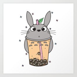 To-taro Bubble Tea Art Print