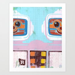 R is for Robots Art Print