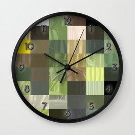 Cactus Garden Abstract Rectangles 3 Wall Clock
