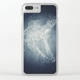 Wolf Skull Clear iPhone Case