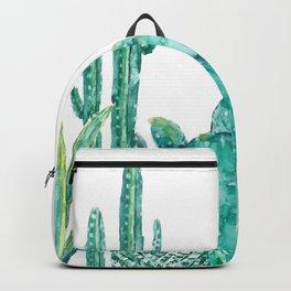 green cactus jungle watercolor Backpack