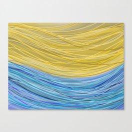 Sketchy Beach Canvas Print
