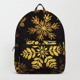 Golden Snowflakes Backpack