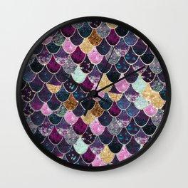 REALLY MERMAID - JEWEL SCALES Wall Clock