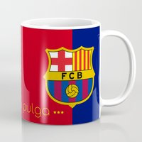 messi Mugs featuring Lio Messi - Barcelona v2 by softdelusion