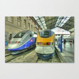 Marseille Trains of Grande Vitesse Canvas Print