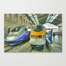 Marseille Trains of Grande Vitesse Canvas Print
