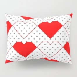 Geometric Heart Pattern Dot to Dot Pillow Sham