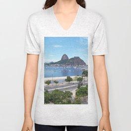 Rio de Janeiro Landscape Unisex V-Neck