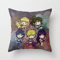 sailor moon Throw Pillows featuring Sailor moon by Madoso