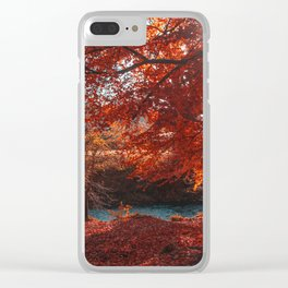 Sunburst Forest Clear iPhone Case