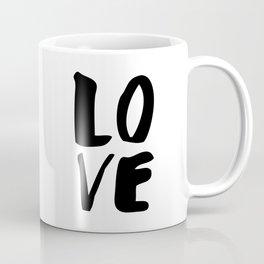 LOVE black and white monochrome typography poster design home wall bedroom decor Coffee Mug