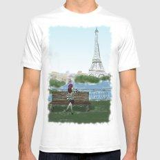 Paris Mens Fitted Tee MEDIUM White