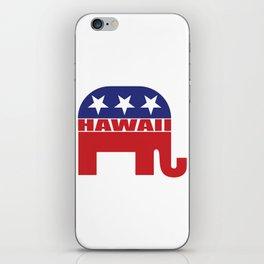 Hawaii Republican Elephant iPhone Skin