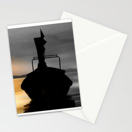 Boat taxi Thailand Stationery Cards