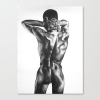 naked Canvas Prints featuring Naked  by Michaela Latavanha